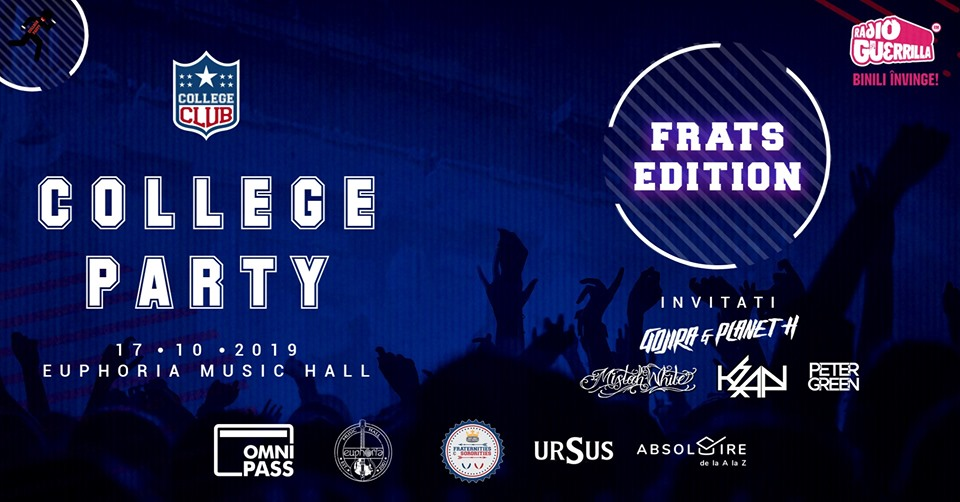 College Party – Frats Edition /w Gojira & Planet H