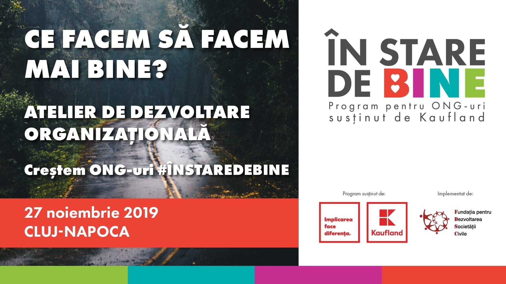 Atelier pentru ONG-uri la Cluj: Ce facem să facem mai bine?