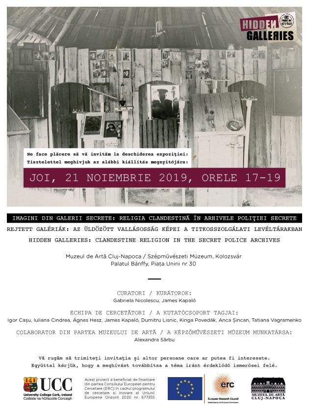 Imagini din galerii secrete – Hidden Galleries exhibition