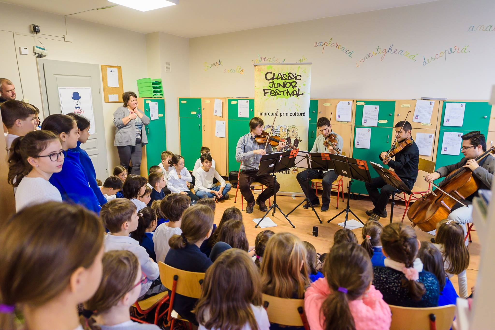 Muzica clasică devine mai atractivă copiilor din Cluj, la Classic Junior Festival