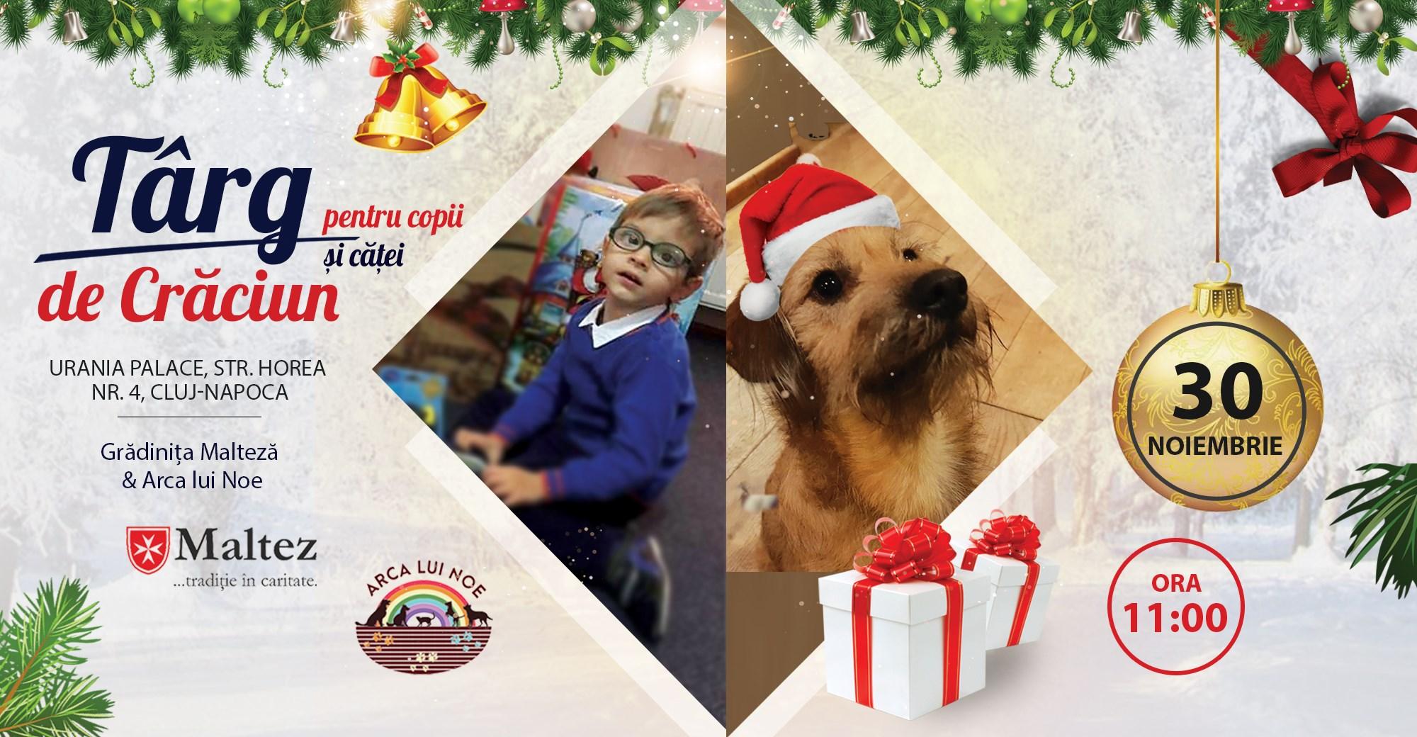 Târg de Crăciun pentru copii și căței