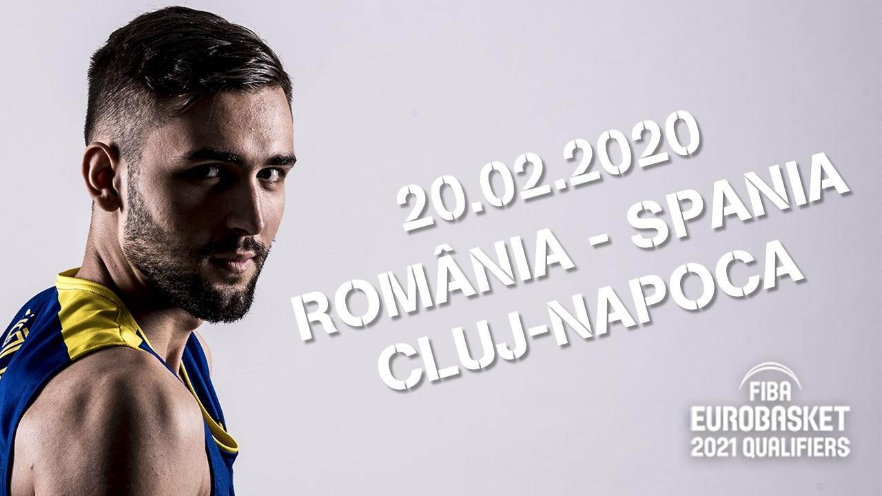 Baschet masculin: România – Spania