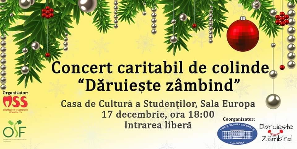 """Concert Caritabil De Colinde """"Dăruieşte Zâmbind"""""""