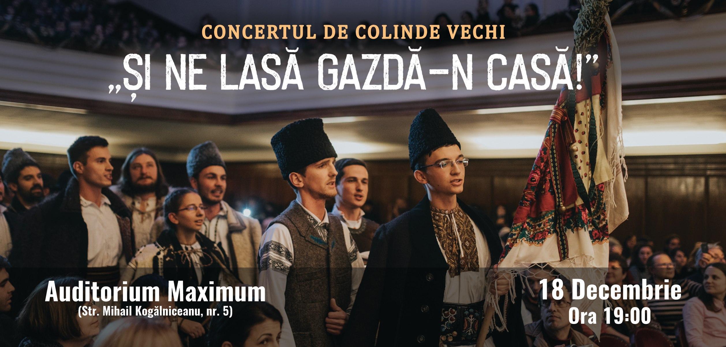 """Concert de colinde vechi: """"Și ne lasă Gazdă-n casă!"""""""