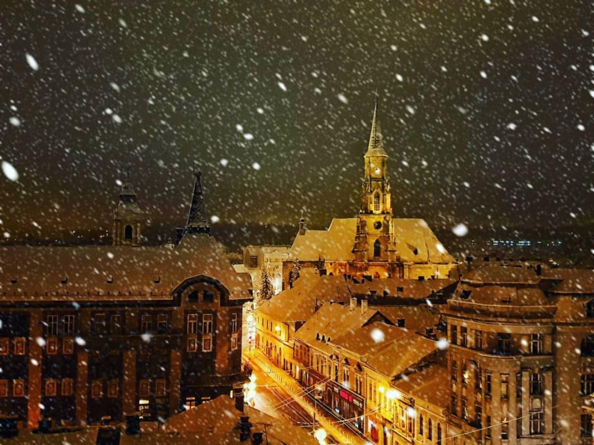 Clujul acoperit de zăpadă! 10 dintre cele mai frumoase poze postate pe Instagram în ultimele zile