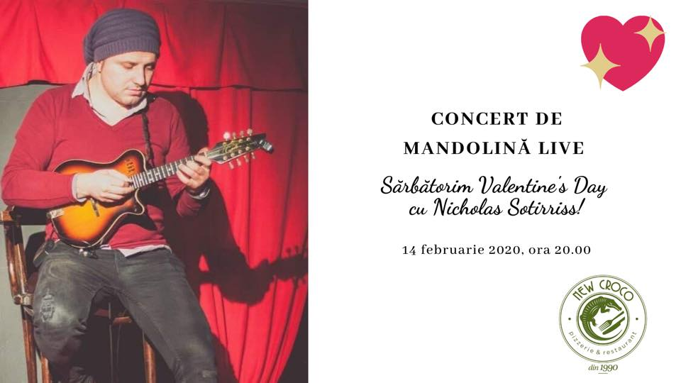Concert de mandolină live de Valentine's Day