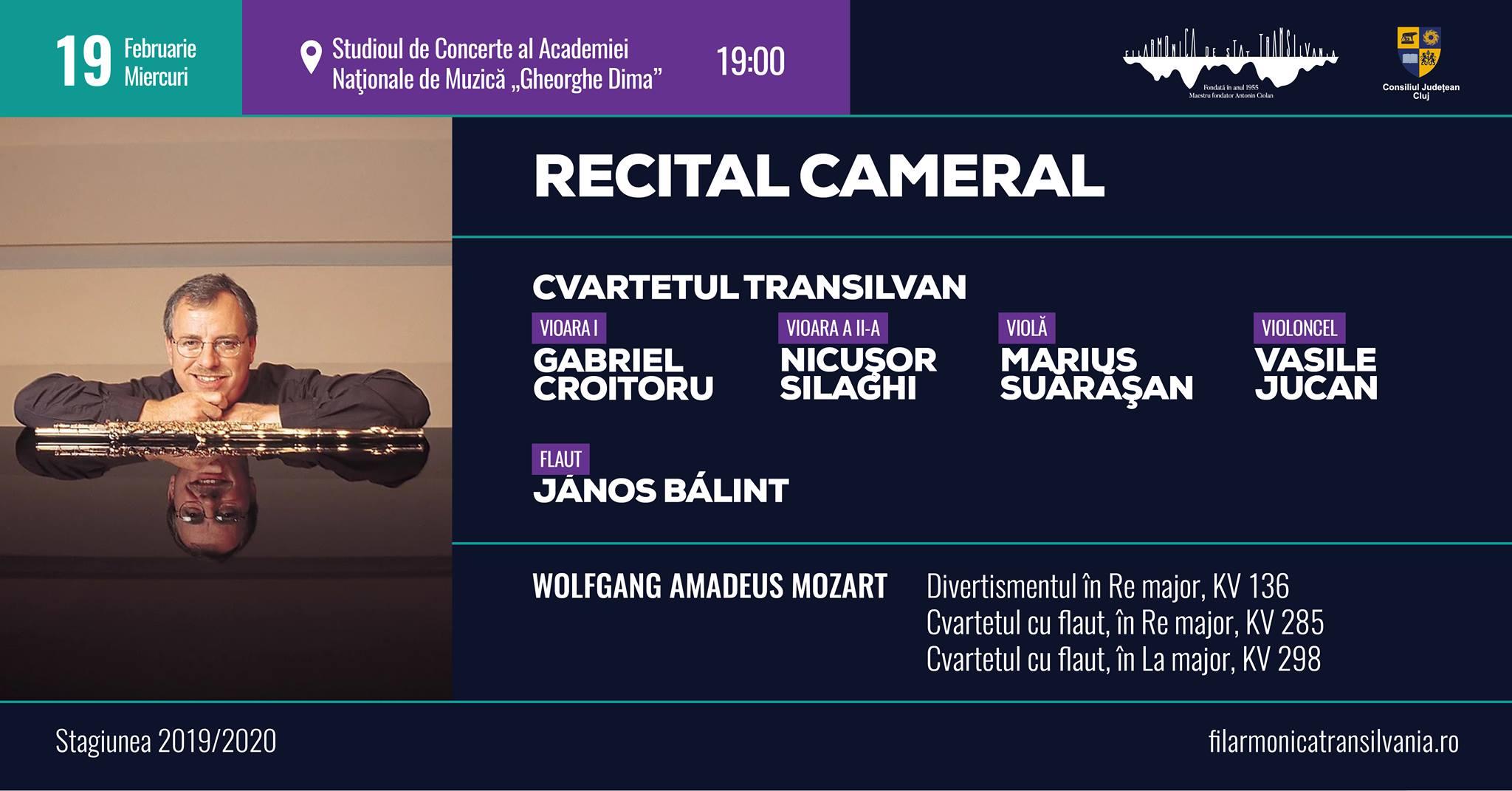Recital cameral – Cvartetul Transilvan