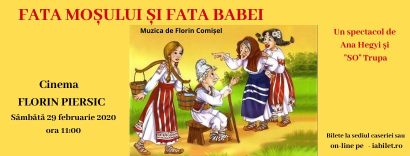 """Spectacol de teatru: """"Fata Babei și Fata Moșului"""""""