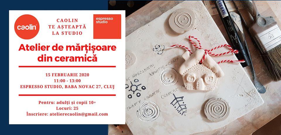 Atelier de mărțișoare din ceramică @ Espresso Studio
