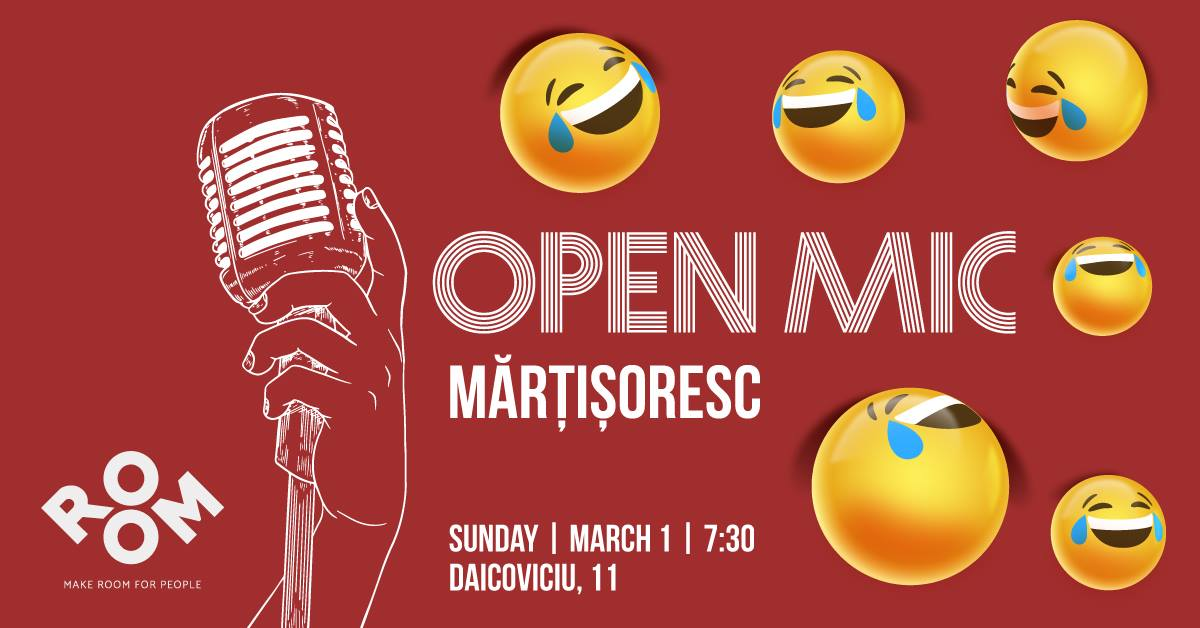 Open Mic mărțișoresc. Stand-up Comedy