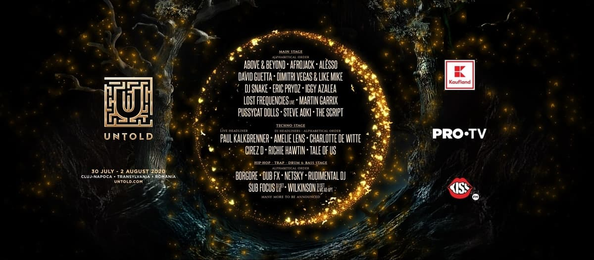 Premieră în România: The Pussycat Dolls, Iggy Azalea, Eric Prydz, Amelie Lens și Charlotte de Witte la UNTOLD 2020