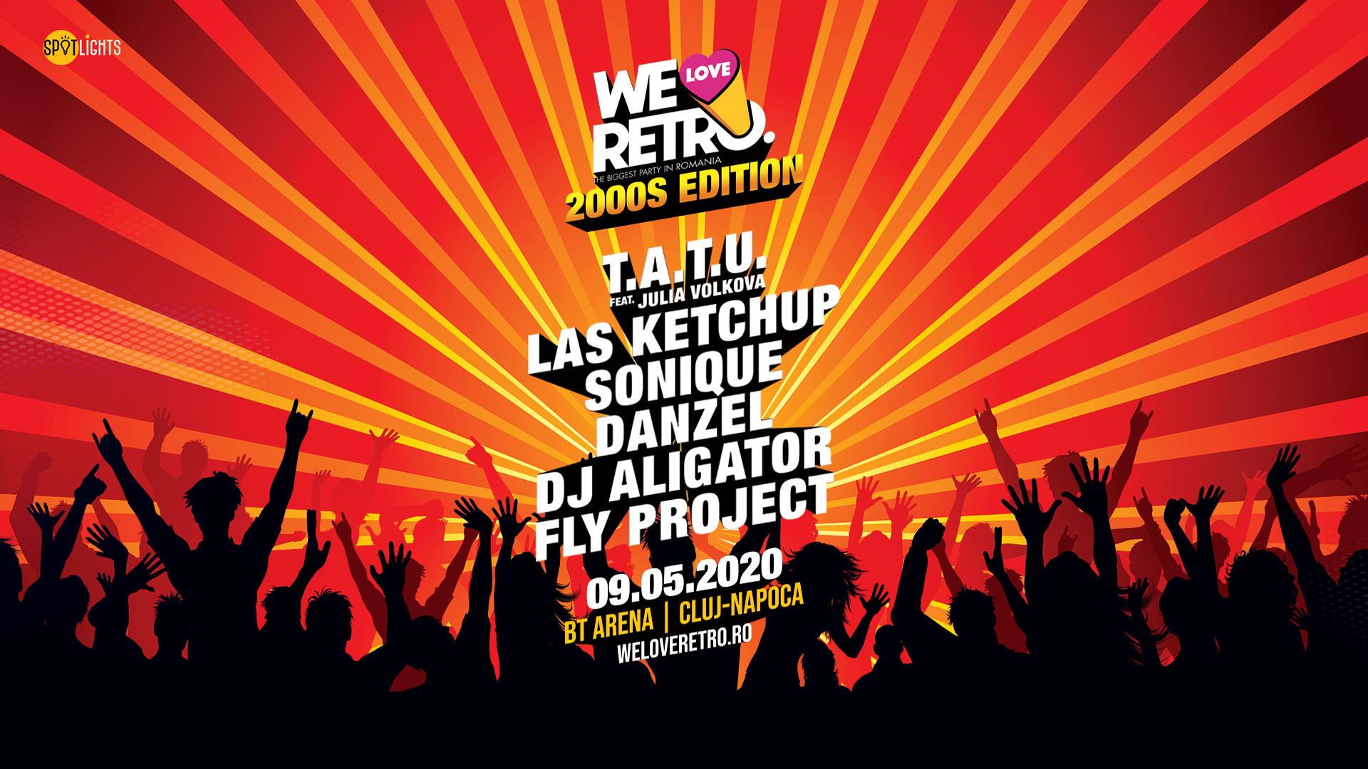 Cei mai îndrăgiți artiști ai anilor 2000 vin la We Love Retro 2000's, la BT ARENA, pe 9 mai