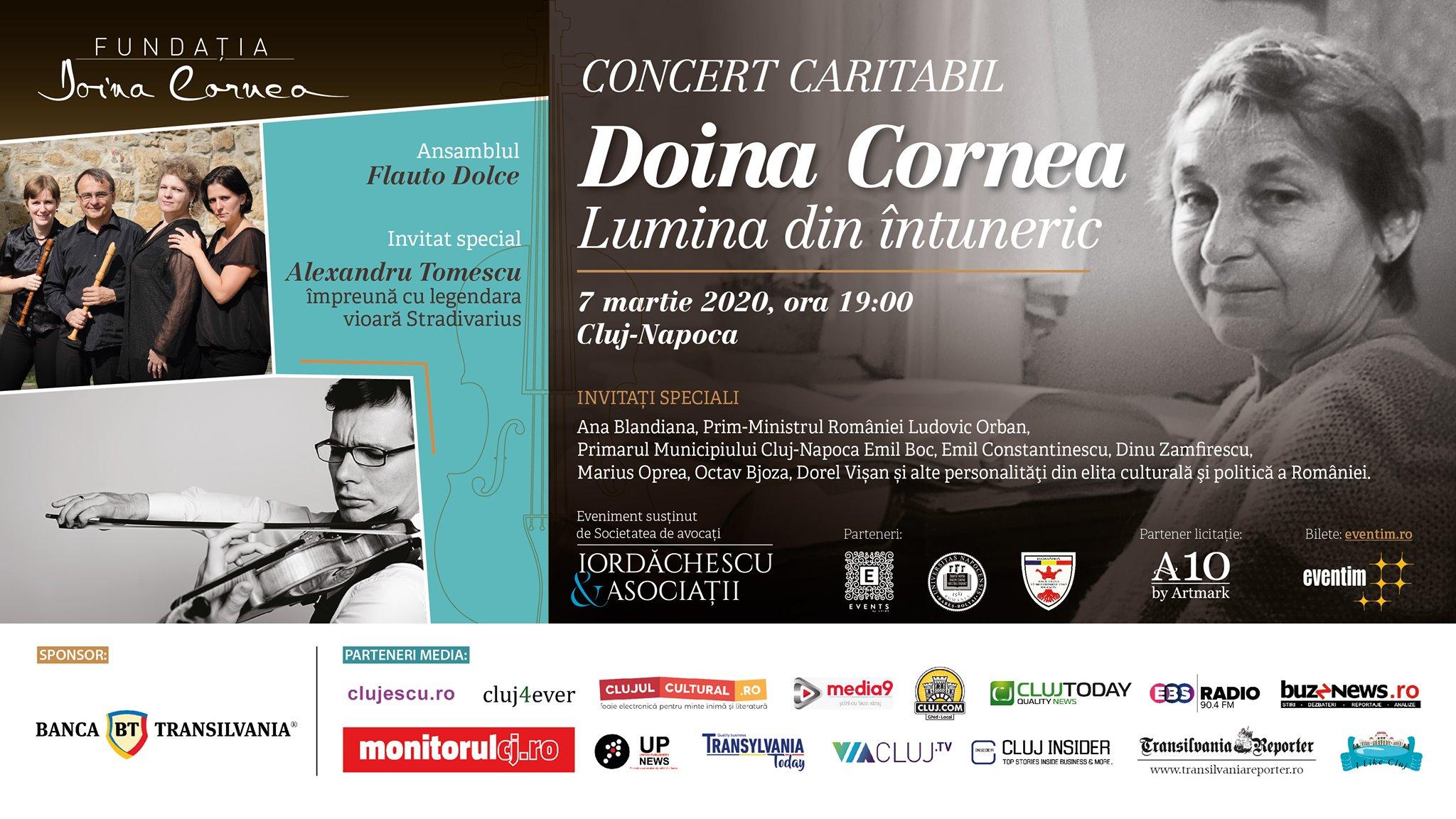 Concert caritabil: Doina Cornea – Lumina din întuneric @ Auditorium Maximum