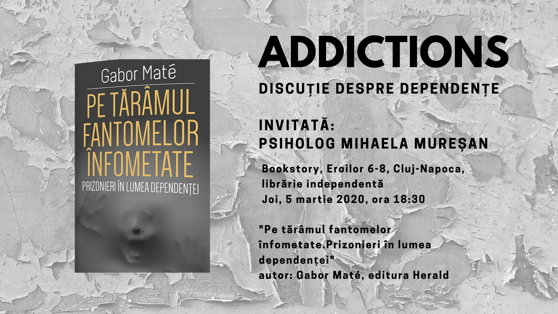 Addictions: Discuție despre dependențe @ Bookstory