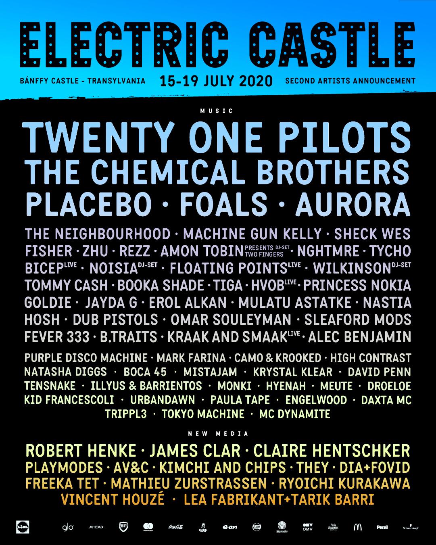 The Chemical Brothers, Placebo, Aurora și Machine Gun Kelly printre noii artiști confirmați la Electric Castle 2020