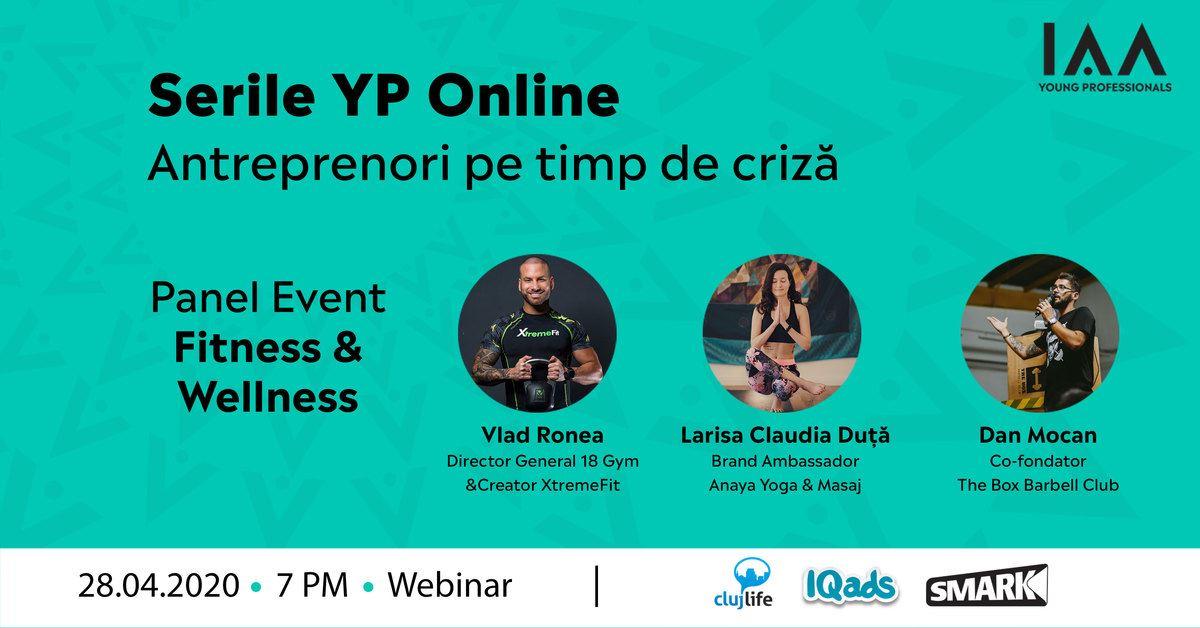 Serile YP Online: Antreprenori pe Timp de Criză-Fitness&Wellness