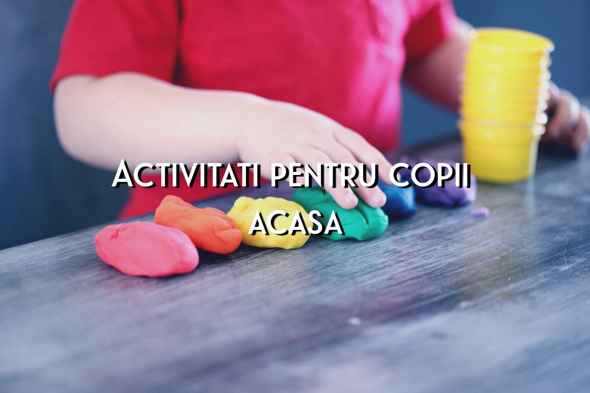 Activități pentru copii, acasă, în plină izolare