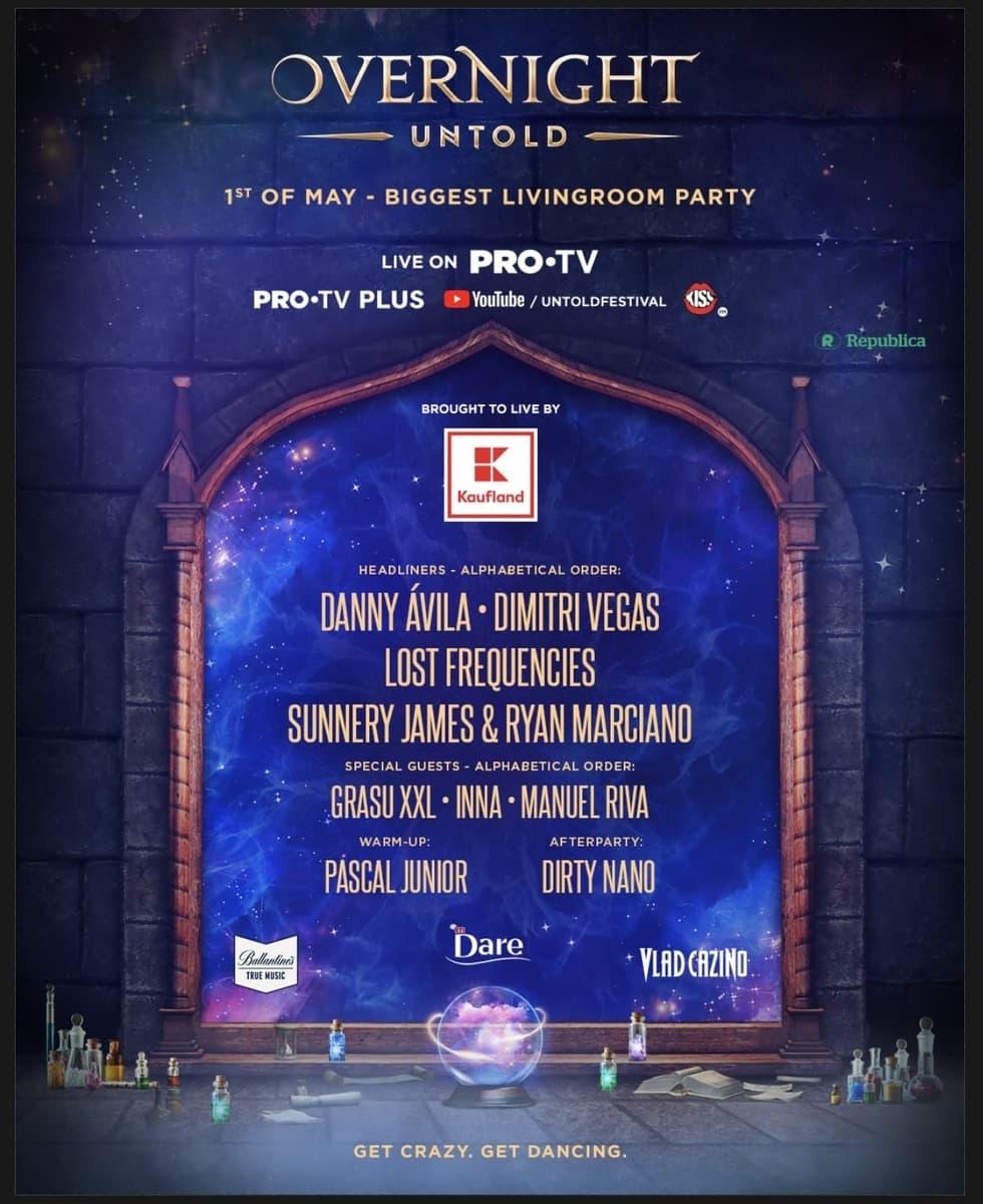 De 1 mai, UNTOLD și PRO TV te invită la cel mai mare party de acasă