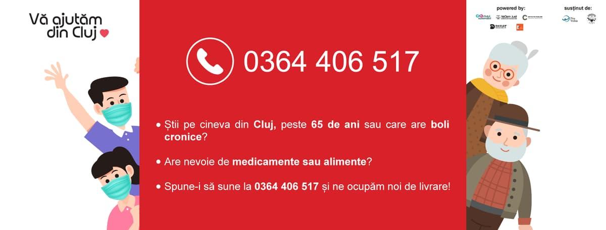 Prima lună Vă ajutăm din Cluj: 92 de voluntari, 537 pachete de alimente și medicamente livrate către 345 persoane aflate în nevoie