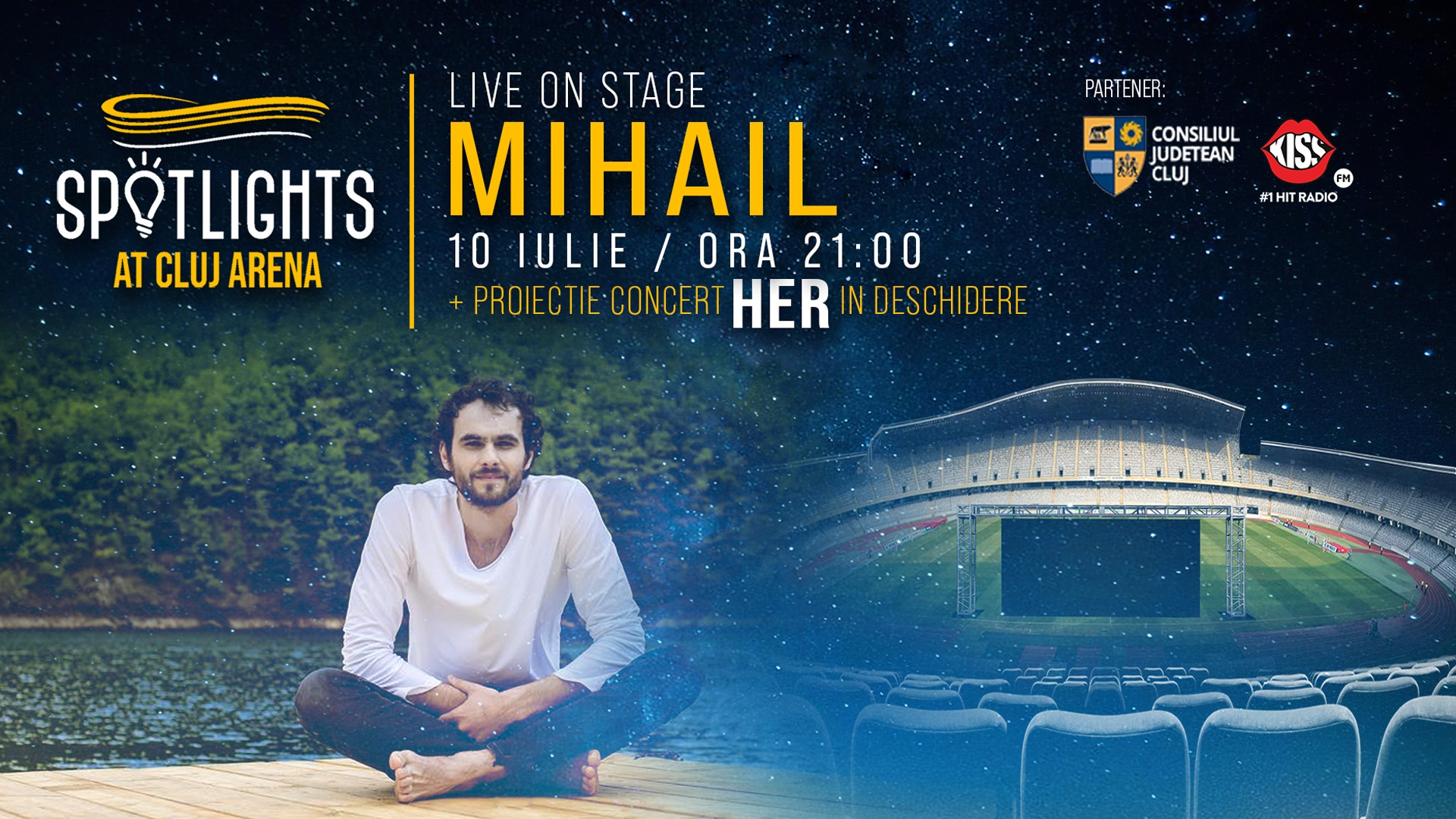 Mihail – Live On Stage Spotlights At Cluj Arena
