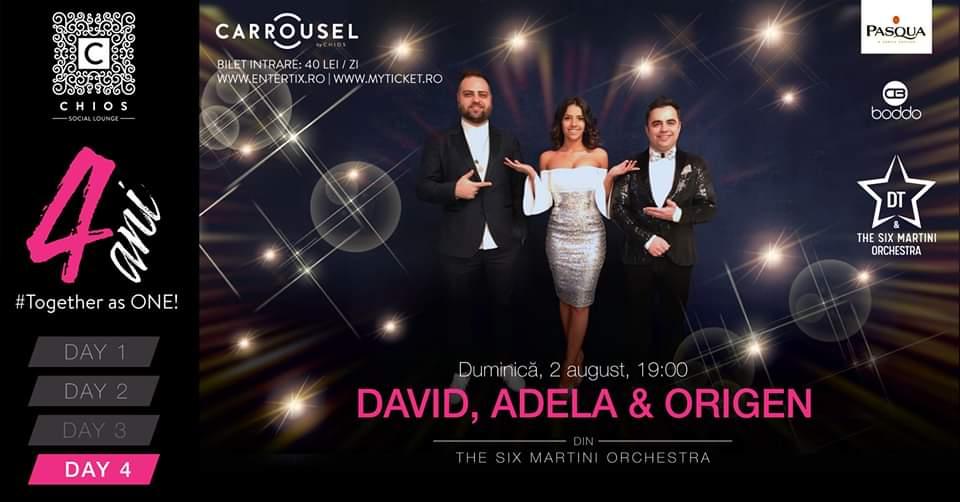 4 ani! CHIOS Social Lounge - DAY 4 - David, Adela & Origen