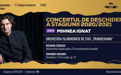 Concertul de deschidere a stagiunii 2020/2021