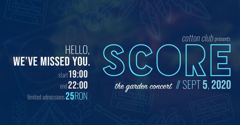 SCORE The Garden Concert Cotton Club