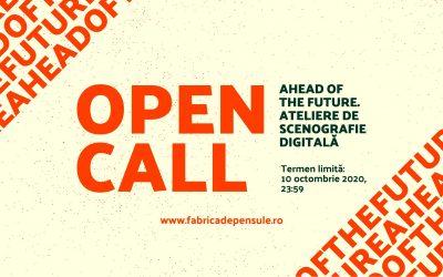 Open Call: Ahead of the future. Ateliere de scenografie digitală