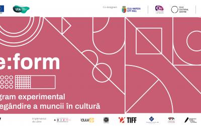 Lansare re:form, program experimental de regândire a muncii adresat organizațiilor culturale