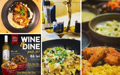 Wine & Dine: Cină în doi împreună cu un vin bun. 4 recomandări pentru home delivery