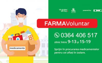 Vă ajutăm din Cluj împreună cu Colegiul Farmaciștilor Cluj Lansează campania FarmaVoluntar
