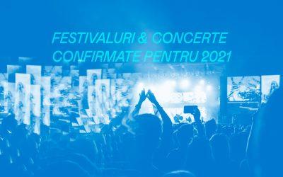 Festivaluri și concerte confirmate pentru 2021