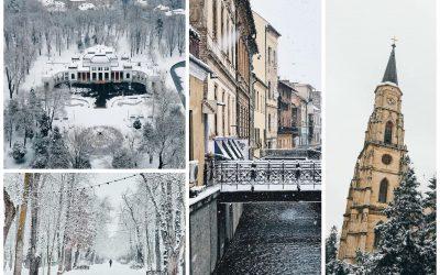 Clujul acoperit de zăpadă! Cele mai frumoase poze postate pe Instagram în ultimele zile