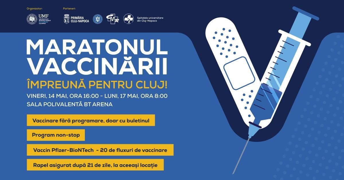 Maratonul Vaccinării Cluj