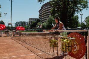 prima lecție de tenis