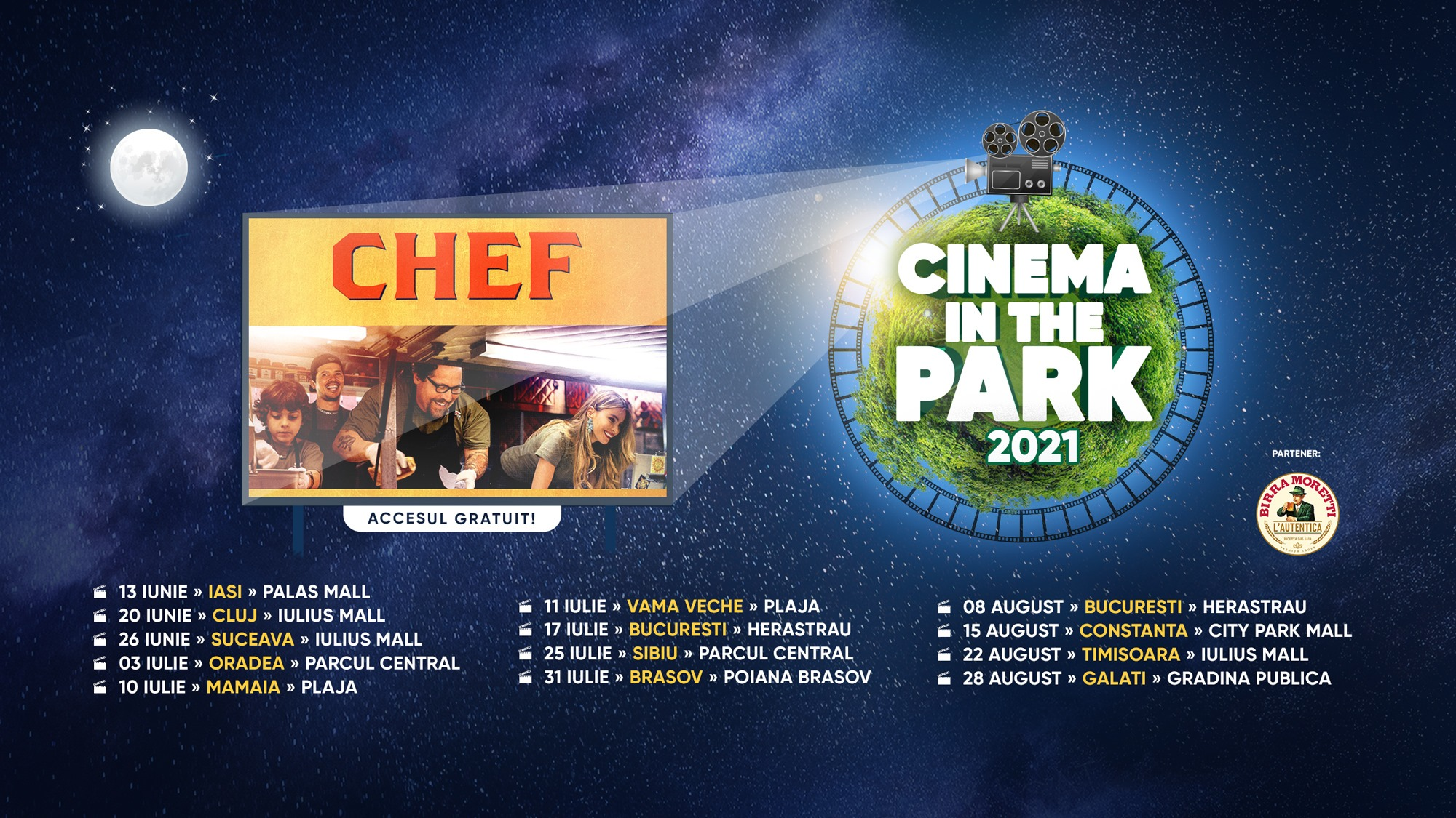 Cinema In The Park - Iulius Mall Cluj-Napoca- CHEF