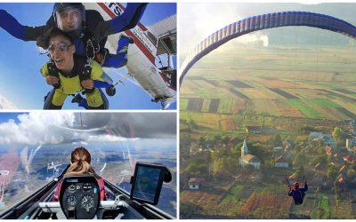 Unde poți zbura aproape de Cluj cu parapanta, motoparapanta sau elicopterul
