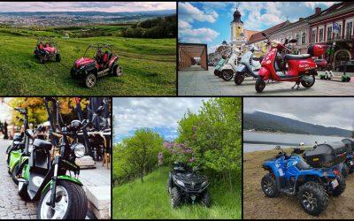 Închirieri ATV-uri, scutere și buggy-uri în oraș și aproape de Cluj