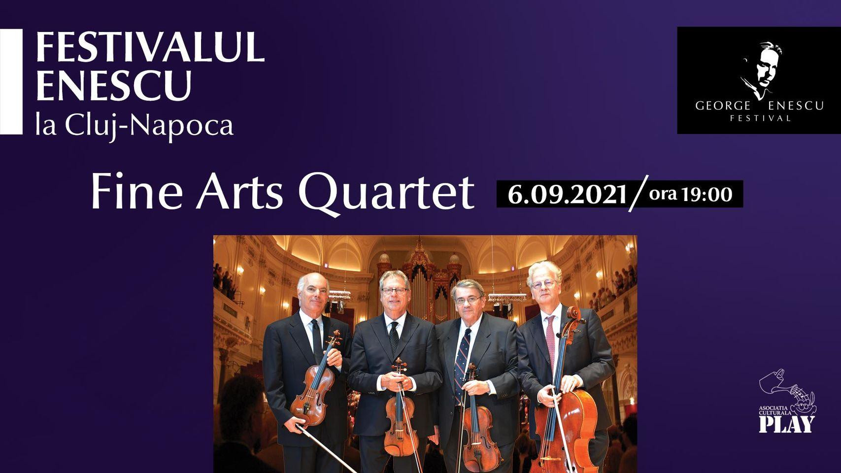 Concert Fine Arts Quartet ✦ Festivalul Enescu la Cluj-Napoca