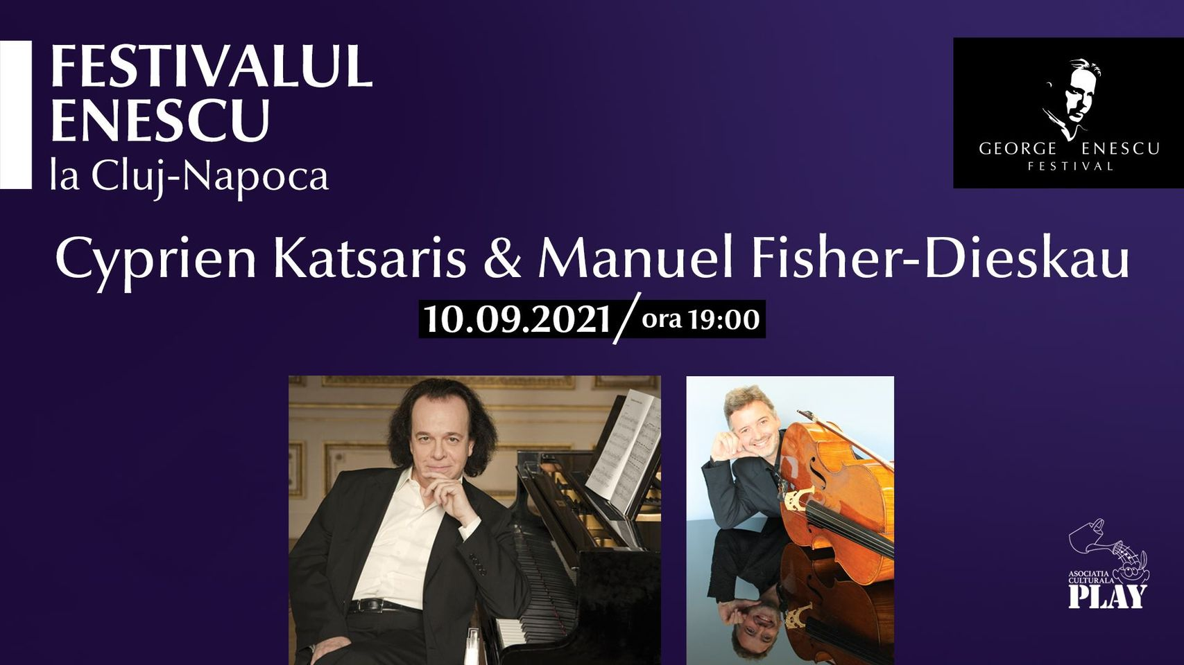Recital Cyprien Katsaris & Manuel Fisher-Dieskau ✦ Festivalul Enescu la Cluj-Napoca