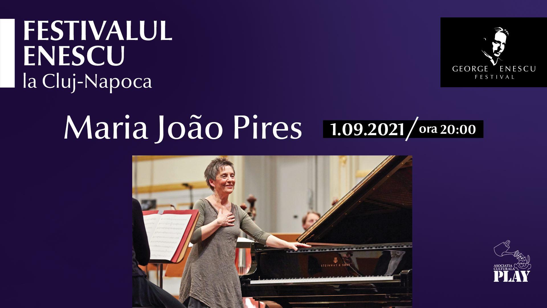 Recital Maria João Pires Festivalul Enescu la Cluj-Napoca