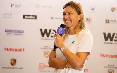Simona Halep și Ion Țiriac, invitați speciali în a doua zi a turneului Winners Open WTA 250